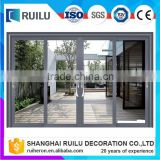 Ruilu brand high quality thermal break aluminum big glass sliding patio door used in living room