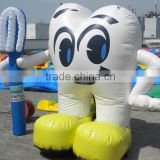 2015 hot sale inflatable tooth mascot/advertising balloon F1060