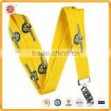 Fashion Polyester customize logo printing lanyards for short lanyard key ring embroidered