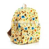 new product cute zoo animal schoolbag lovely canvas kids zoo animal backpack