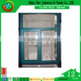 Green Color Tempered Glass Aluminium Sliding Window With Price Philippines Cheap House Window For Sale
