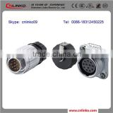 Made in china waterproof female Screw on wire connector female auto electrical connector ip68 connector