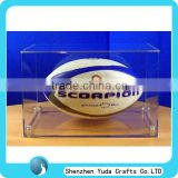acrylic rugby collection box,acrylic rugby ball display case,acrylic rugby display box