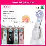 Multifunction Home Use 5 LED Color RF Beauty Device IPL Instrument Face Lift 480-1200nm Skin Rejuvenation Wrinkle Remover Slim Face Laser Face Machine Pigmented Spot Removal