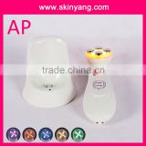 New design LED Color photon ultrasound handy machine and home use beauty device for acne treatment