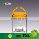 1500ML 2000g with handle Lid plastic PET Honey candy cookie mason jar