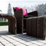 Garden furniture Single Sofa Ottoman Side table Rattan Wicker Aluminum Frame Tempered Glass
