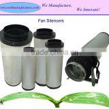 Hydroponic air duct silencer