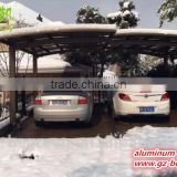 wrought iron metal gazebo outdoor waterproof car packing cover garage carport canopy with polycarbonate roofing sheet