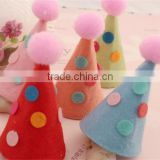 Hot sell Felt Birthday Party Hats DIY Kids Headbands supplies Hair Accessories made in China