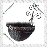 wholesale plastic hangingbasket ,wrought iron hanging basket,cheap wrought iron wall baskets