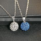 925 sterling silver fresh rhodium plated ball shape pendant necklace