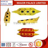 yellow red color banana boat,inflatable boat,fishing boat,fly fish boat,RIB boat,sport boat