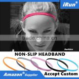 NON-SLIP Rubber Elastic Headband Stretch Strap Yoga Head Belt - Mini Bands Trendy Authentic Sportsbands - Accept Custom