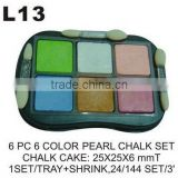 L13 6 PC 6 COLOR CHALK SET