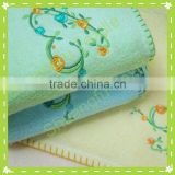 100% cotton embroidered face towels