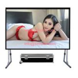 BURIO Wholesale Quick Fold Outdoor Rear Projection Screen/Portable Fast Foldable Projector Screen