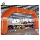 Best quality Orange Inflatable arch,sport archway,commerical balloon arch stand sale