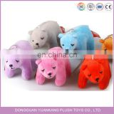 colorful mini plush polar bears keychain