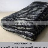 Vintage knit Blankets and throws,Chunky Black woven wrap, Geometric stripes wool throw wrap