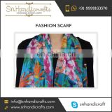 Women Soft Light Weight Summer Floral Printed Scarf of Latest Fashion