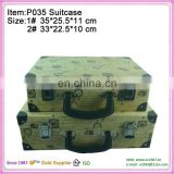 packing eminent printed suitcase