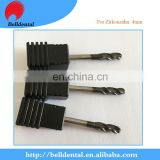 High quality CAD CAM System DLC Coating Dental Zirconia Milling tools s for zirkonzahn milling machine