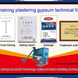 plastering gypsum technical formula