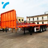 New arrival 2/3/4 axles 40ft flatbed truck semi-trailer container skeleton tandem trailer low bed truck trailer