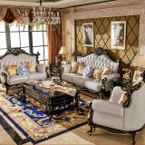 Design customized antique luxury living room sofa set for large room