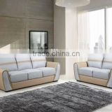 Modern style L shape upholstery sofa for hotel room / wooden sofa with stainless steel legs