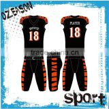 2016 Male customized american football uniform with tackle twill logo
