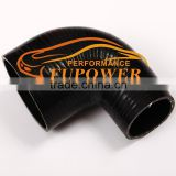 ID: 64mm to 70mm 90 Degree Silicone Reducer Elbow Hose for Turbo intercooler /Heater/Radiator/Oil cooler Coupler Hose black pipe