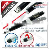 Stylus USB Touch Pen with laser pointer & usb flash drive & new products different shape usb pen drives