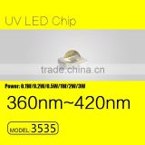 UVLED 3535 1w uv led 365nm uv light source with CE rohs WHOLSALE price