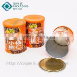 Hot sale Round Nuts Packaging Box Vendor in China Ring pull food packaging