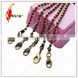 fashion antique brass ball chain with 5 different shape special hook metal chain for bags