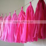PINK OMBRE tissue paper tassel garland nursery decoration wedding decorations princess theme party