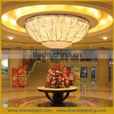 chihuly style elliptical Large Crystal light & big Chandelier Lamps for Projects Lighting Fixtures