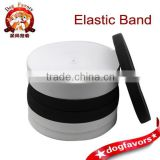 Super durable elastic strap wide elastic band thickening imported rubber band in black and white