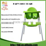 High Quality Promotion Gift Multi-function 3 in 1 Blue Pink White Green High Feeding Chair