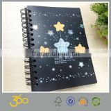 A4 high quality spiral bound hard cover notebook making machine , gift notebook