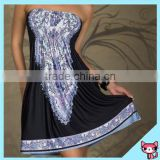 Chinese Factory Navy Blue Heart-shaped Lady Cocktail Dress