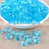 Turquoise Color Wholesales 8mm to 20mm Stock Acrylic Clear Transparent Faceted Beads for Kids Girls Jewelry