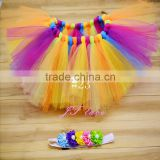 Fancy Kids tutu skirts - factory directly children tutu rainbow - baby girls photography decorative tutu skirts