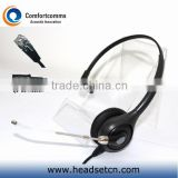 Professional call center headset headphone with rj11 plug and noise cancelling mic for telephone HSM-600TPQDRJ