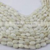 4 Strands Natural White King Agate Smooth 8x10-9x16mm Oval Drilled Jewelry Handmade Making Beads Strand