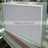 Stainless Steel Frame H13 heat-resistant hepa air filter