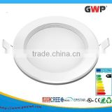 Dimmable 15W Flat LED Panel Light Round Recessed Ceiling Downlight with LED driver , Warm White 2700K - 3200K