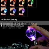 Colorful flash bulb / LED key chain / light-emitting bulb keychain